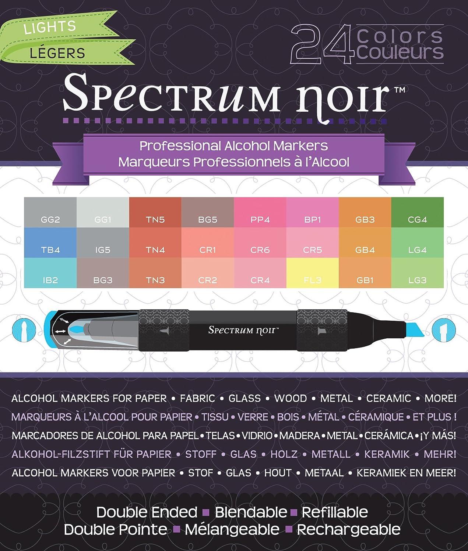 Crafter's Companion Spectrum Noir Alcohol Markers, Lights, 24 Per Package CRAFTER'S COMPANION SPECN24-LIGHT