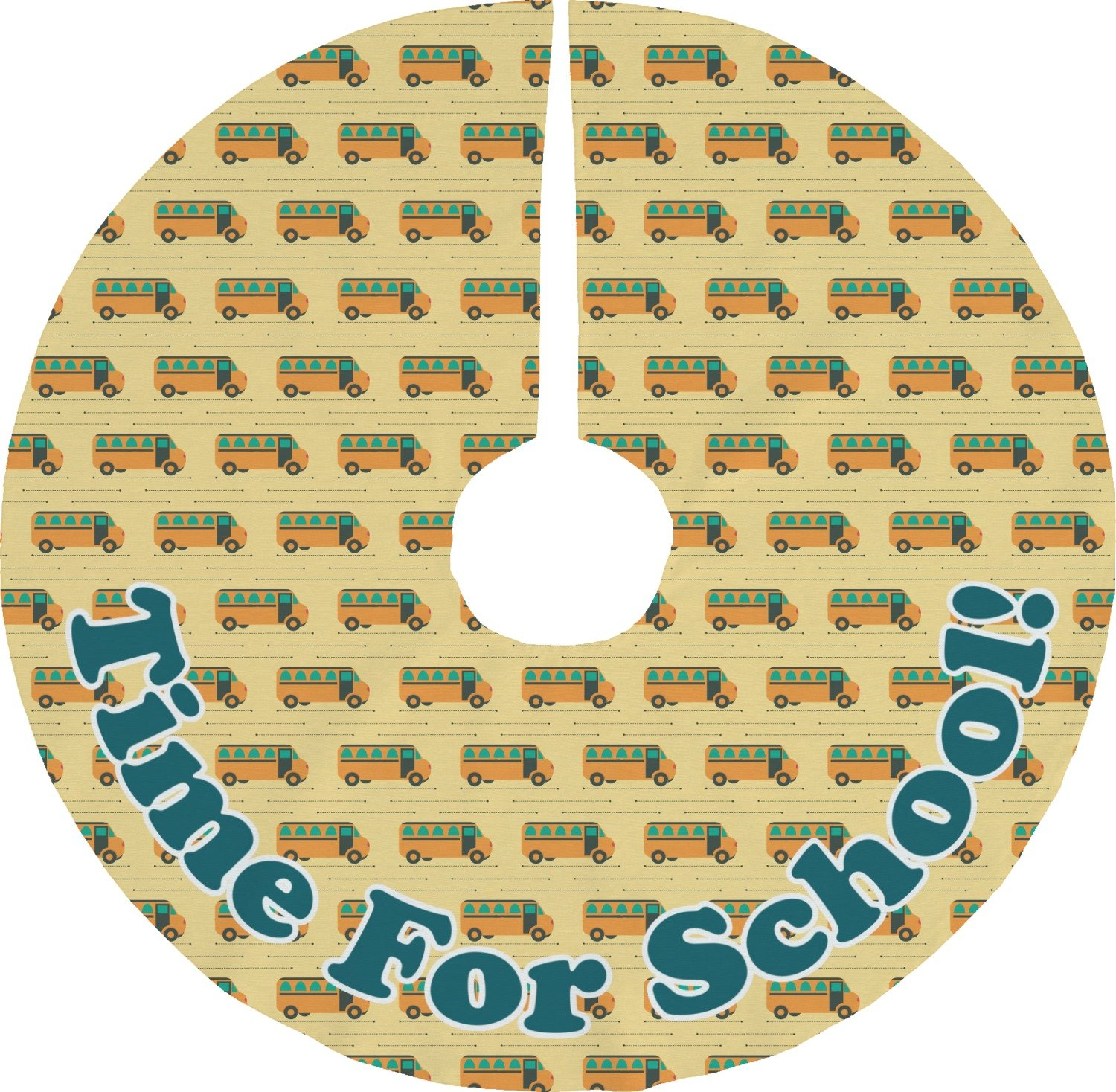 RNK Shops School Bus Tree Skirt (Personalized)