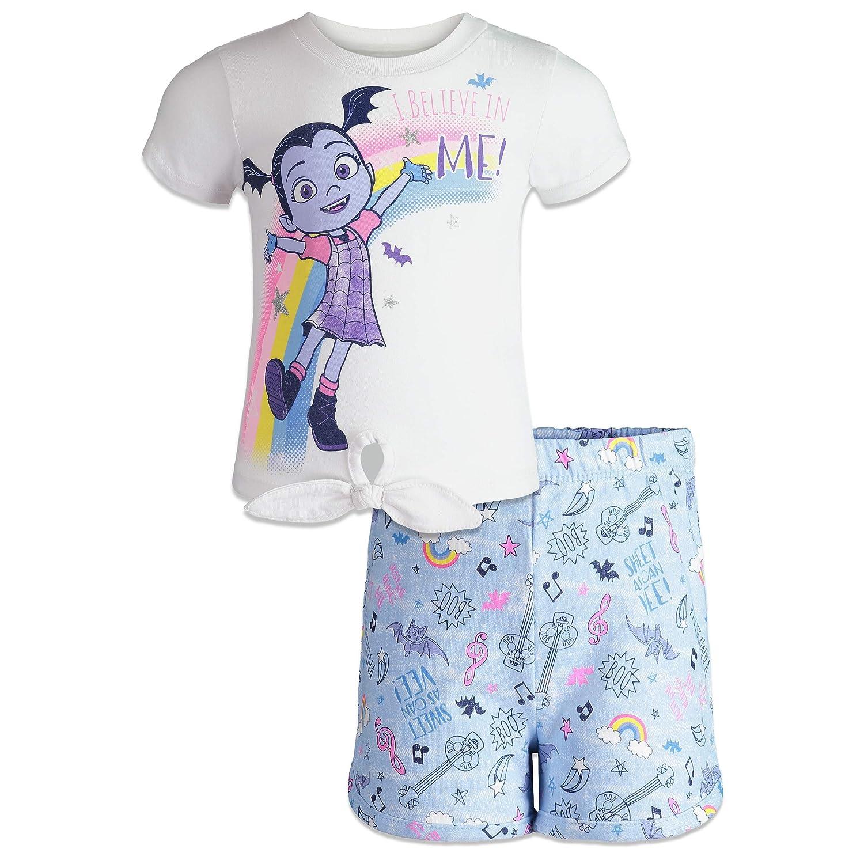 Disney Vampirina Toddler Girls T-Shirt /& French Terry Shorts Clothing Set