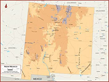 Amazon Com Academia Maps New Mexico State Wall Map Fully