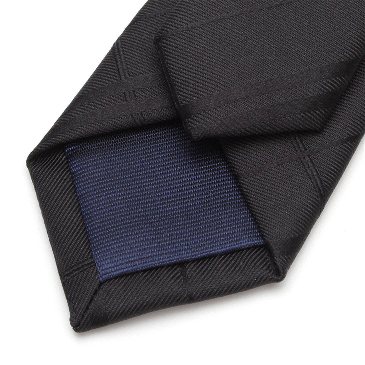 HXCMAN 5cm black striped slim necktie classic design 100/% silk men tie all-match party business evening wedding groom in gift box