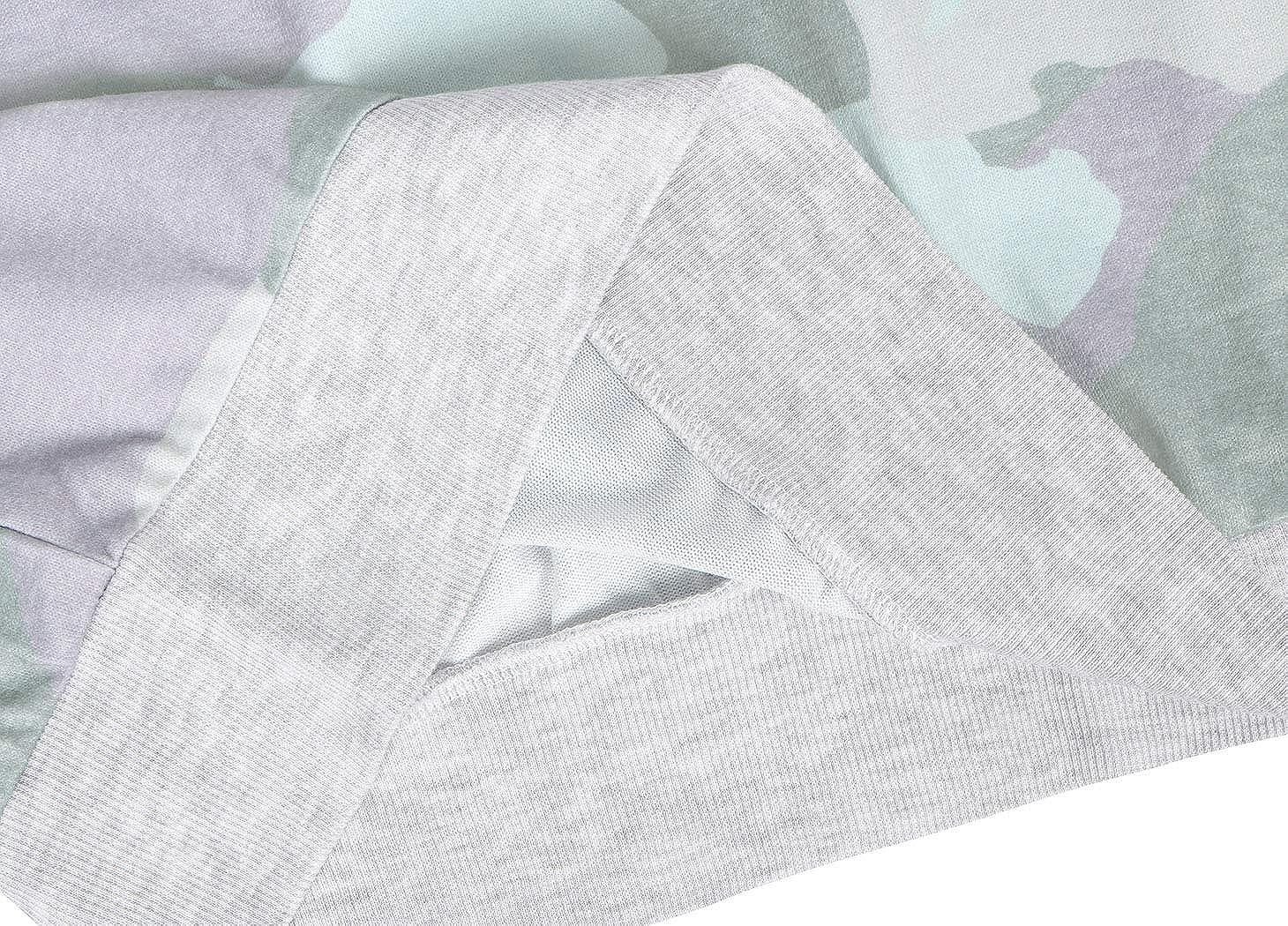 HenzWorld Abrigo de Lana para Mujer Tops de Manga Larga de Color S/ólido Sudadera para Mujer Cuello Redondo Fuzzy Sherpa Pullover