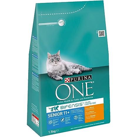 Purina ONE Bifensis Pienso para Gato Senior (+11) Pollo 6 x 1,