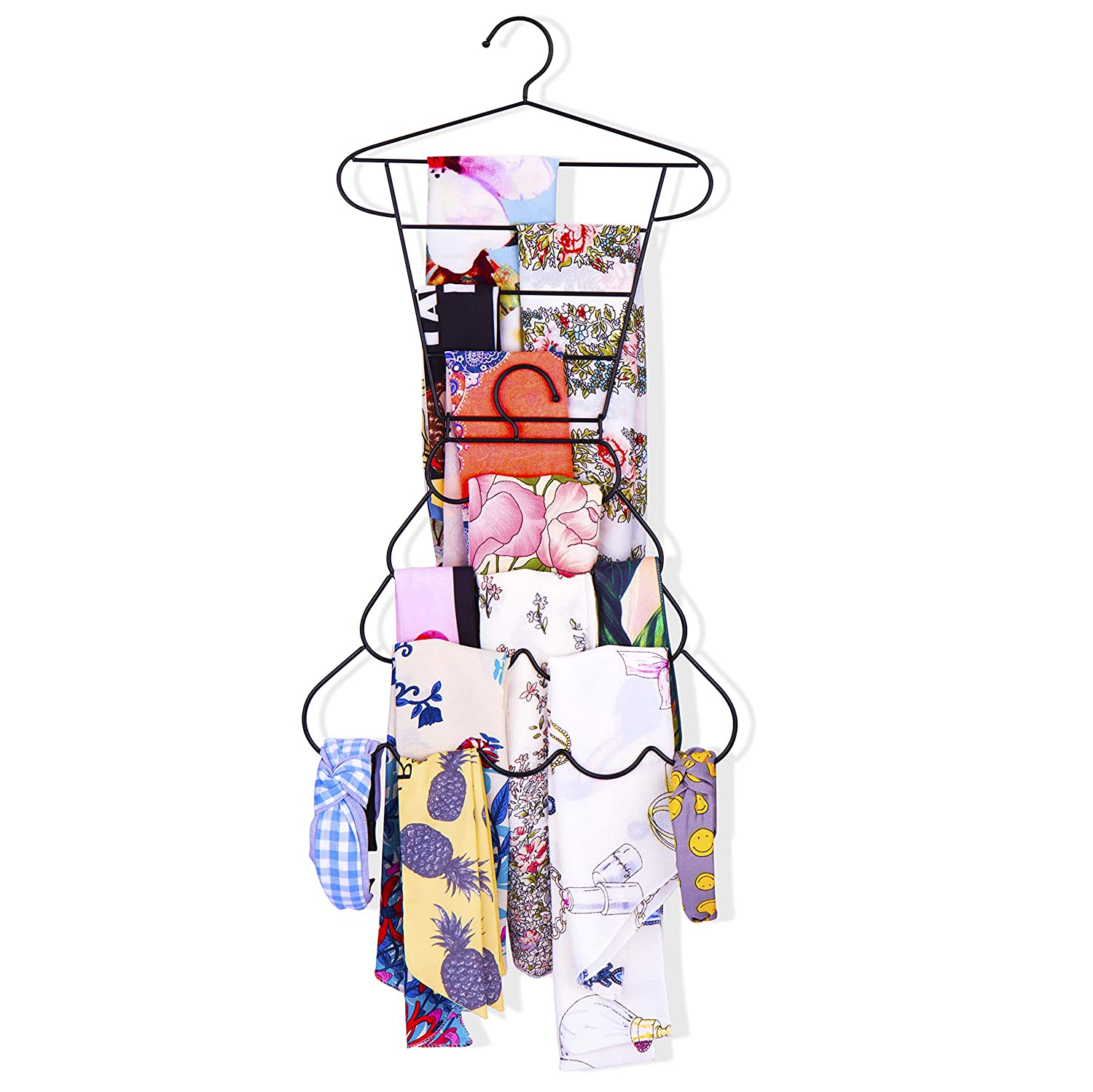 Keebofly Scarf Tie Belt Hanger Organizer Holder Rack for Closet and Wall,Part of 2 (Clothes & Skirt)