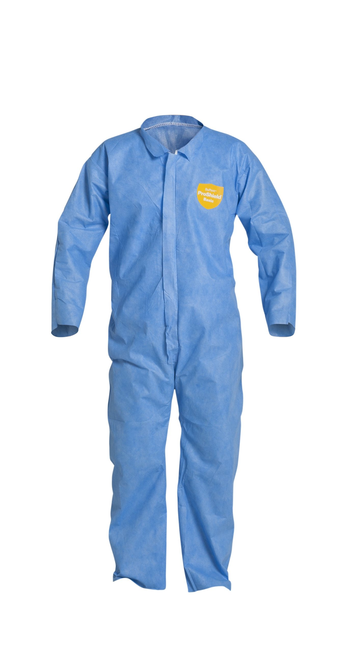 DuPont ProShield 10 PB120S Disposable Protective Coverall with Serged Seams, Open Cuff and Ankles, Blue, 2X-Large (Pack of 25)