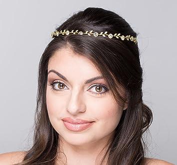Amazon.com   SWEETV Crystal Hair Band Rhinestone Headband Tiara Bridal  Headpiece Wedding Hair Accessories for Women cc5eb043531a