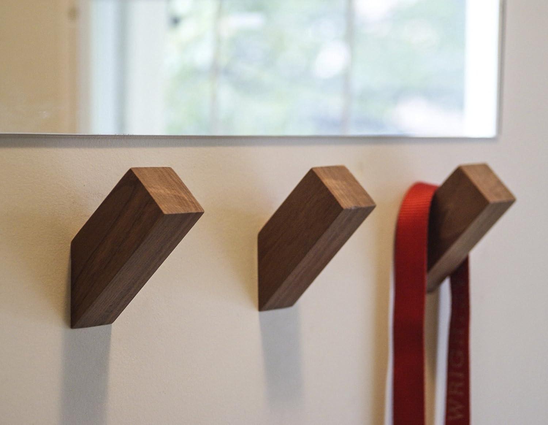 WALLNUTS™   Modern Wall Hooks Handmade by Beautiful American Hardwoods