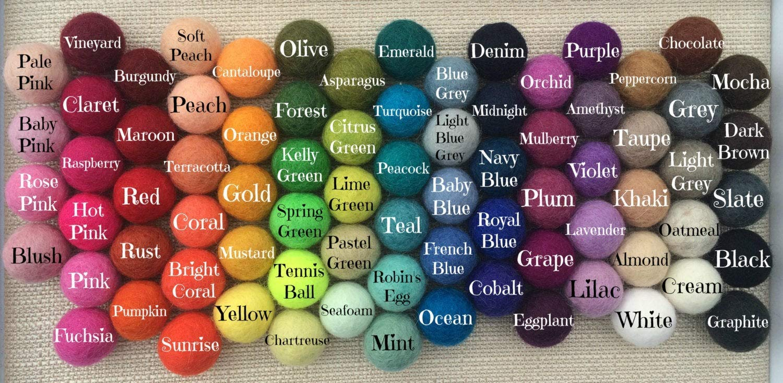 DIY Felt Ball Garland Kit Earth Elements Rainbow
