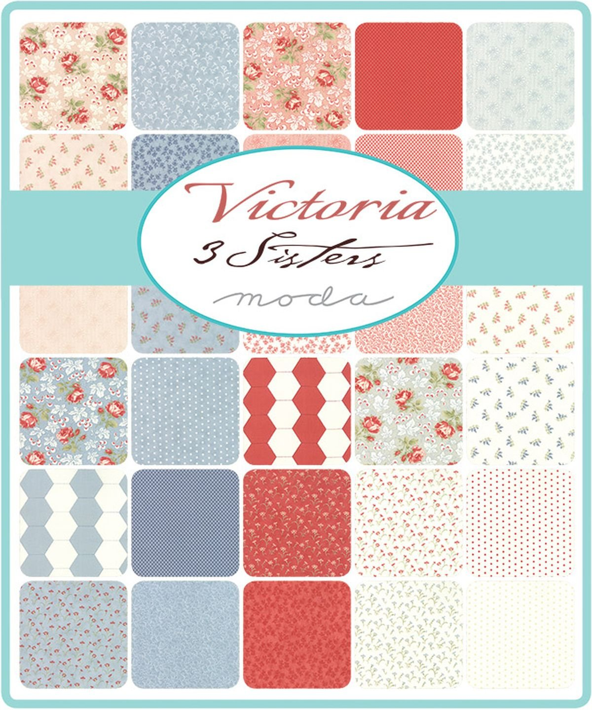 Victoria Mini Charm Pack by 3 Sisters; 42-2.5 Precut Fabric Quilt Squares