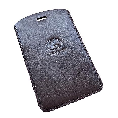 Amazon Com Rockxia Brown Color Leather Lexus Credit Card Key Fob