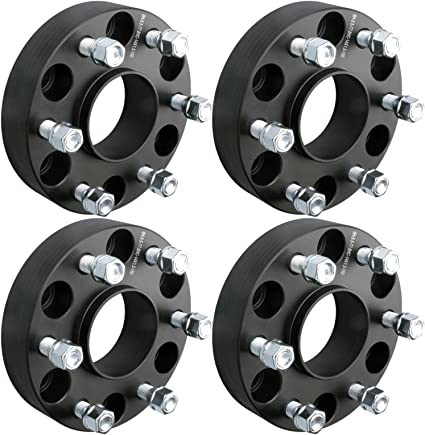 2PC, 1.5 Thick GMC Savana Yukon Sierra 1500 DCVAMOUS 6 Lug Hubcentric Wheel Spacers 6x5.5 with 14x1.5 Studs for Chevy Suburban Silverado 1500 Tahoe