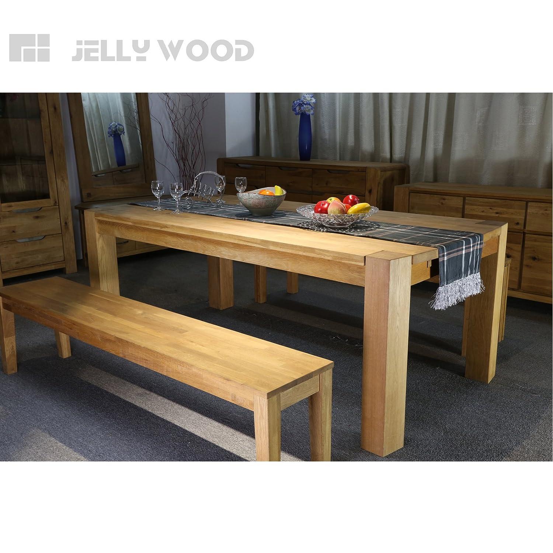 Jellywood Esstisch Milano in Eiche Massivholz 200 x 100 cm Tisch ...