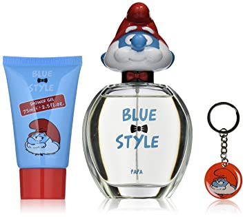 First American Brands The Smurfs Blue Style Papa Gift Set, 3 Count