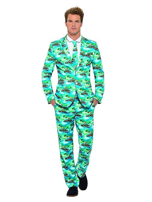 Smiffys Miffy Traje Aloha!, con Chaqueta, Pantalones y ...