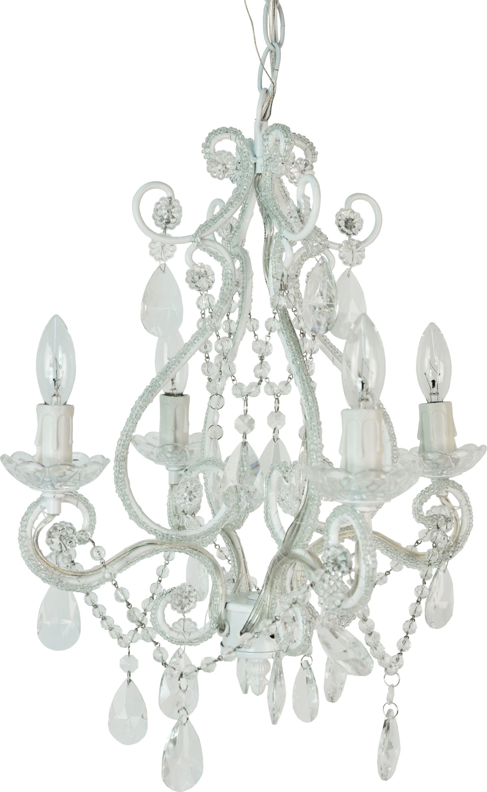 Tadpoles 4-Bulb Vintage Plug-In or Hardwired Mini-Chandelier, White Diamond by Tadpoles (Image #2)