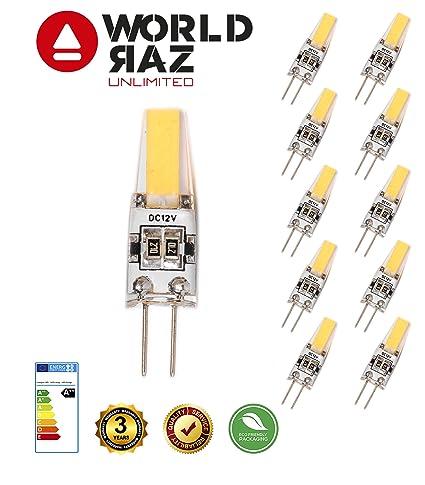 Bombillas led G4 2W 12V. Bombilla G 4 luz fría 6000K WORLD RAZ. Lámpara