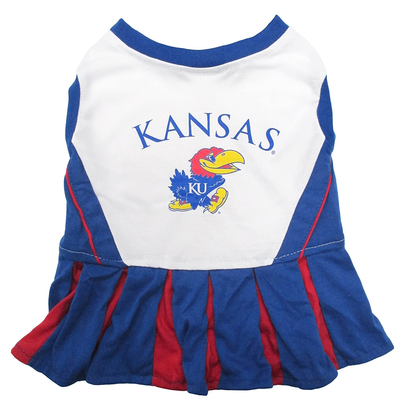 NCAA Kansas Jayhawks Dog Cheerleader Outfit Pet Supplies Small