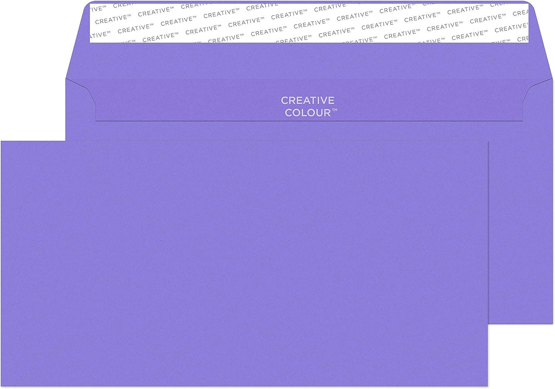 25 unidades Blake 114 x 229 mm Creative color DL autoadhesivos sobre est/ío Violet