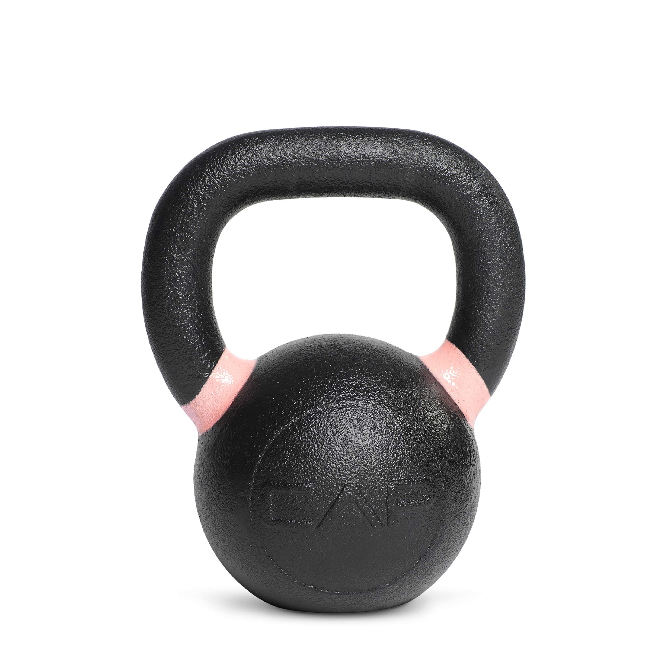 CAP Barbell SDK5-018 Cast Iron Competition Kettlebell Weights, 18 Pound, Black/Pink