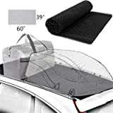 "Aaaspark ROOF Cargo Bag Protective MAT (39"" x 60""Black),More Friction and Cushioning Will Protect The car roof and roof…"