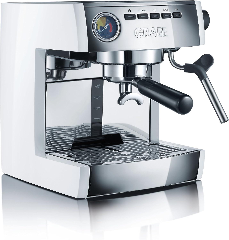 Graef ES86EU Cafetera Espresso, blanca, 230 V, 1470 W: Amazon.es: Hogar