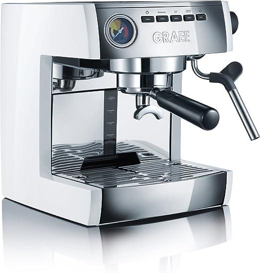 Graef ES86EU Cafetera Espresso, blanca, 230 V, 1470 W: Amazon.es ...