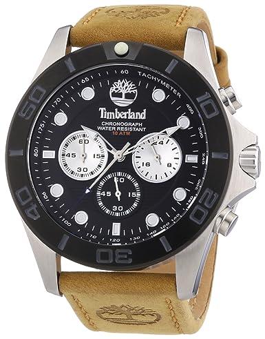 Timberland TBL.13909JSTB/02 - Reloj analógico de Cuarzo para Hombre, Correa de Cuero Color marrón: Amazon.es: Relojes