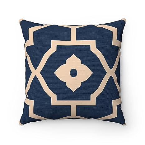 Lienzo decorativo (43 x 43 cm, diseño geométrico de azulejos ...