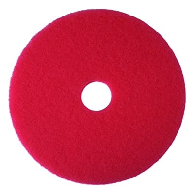 3M Red Buffer Pad 5100, 20 in, 5/Case: Industrial & Scientific