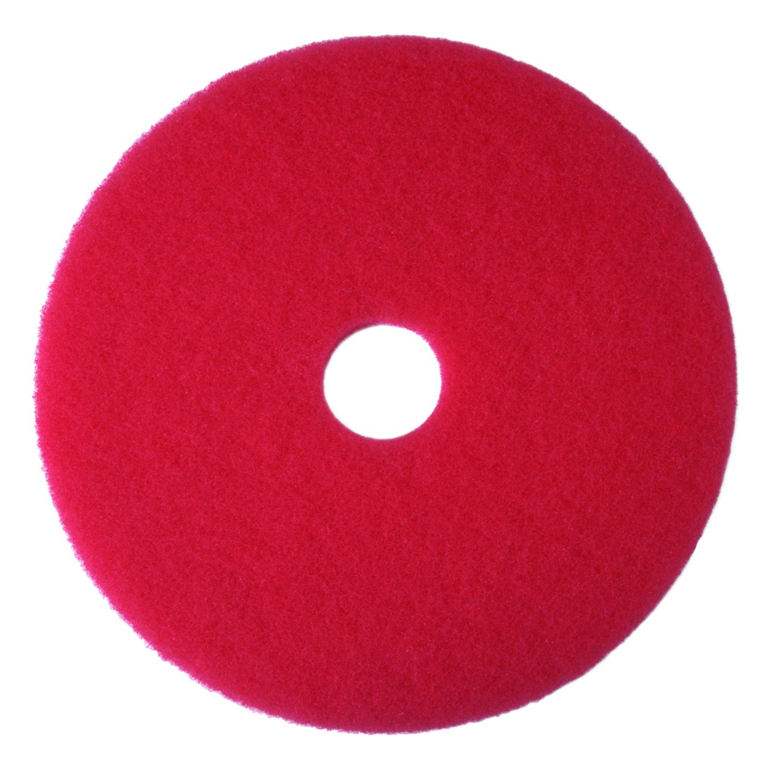 3M Red Buffer Pad 5100, 12'' Floor Buffer, Machine Use (Case of 5) by 3M