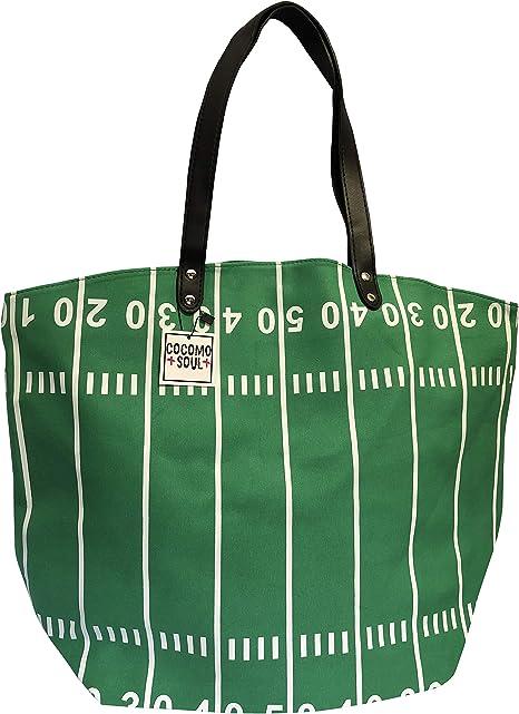 Amazon.com: Bolso de mano de lona de fútbol, tamaño grande ...