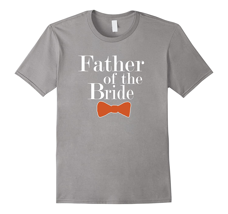 Father of the Bride Burnt Orange Bowtie T shirts-Vaci