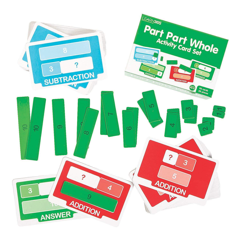 Fun Express - Part Part Whole Activity Cards Set - Educational - Teaching Aids - Math - 110 Pieces by Fun Express