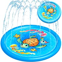 "Splash Pad Water Sprinkler for Kids Toddlers 68"" Large, Outdoor Summer Toys Kiddie Baby Swimming Pool - Fun Backyard…"