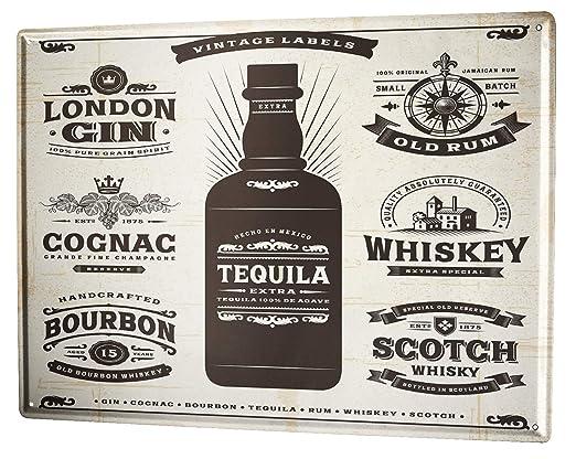 Blechschild XXL Nostalgie Alkohol Retro  Scottish Malt Whisky