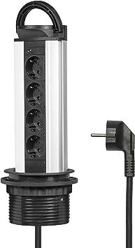 Elbe Socket para mesa empotrado, Multi-socket 4 enchufes alemanes ...