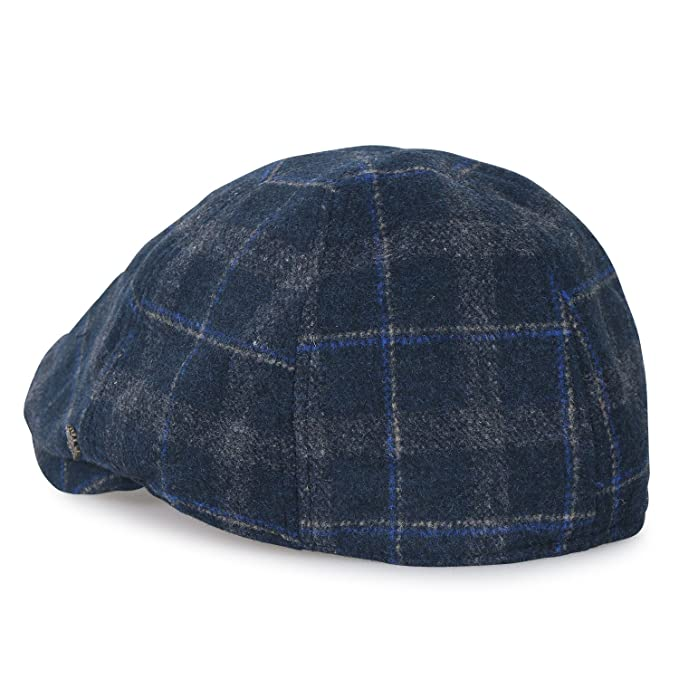 ililily Tartan Checkered Wool-Blend Gatsby Newsboy Hat Cabbie Hunting Flat Cap, Green Plaid at Amazon Mens Clothing store:
