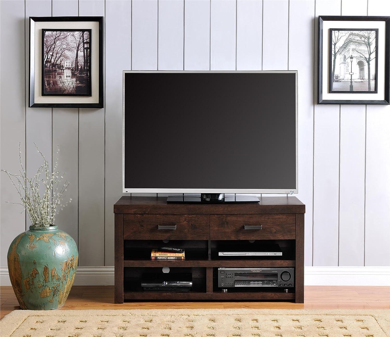 """Amazon Altra Westbrook 42"""" TV Stand Dark Walnut Kitchen"""