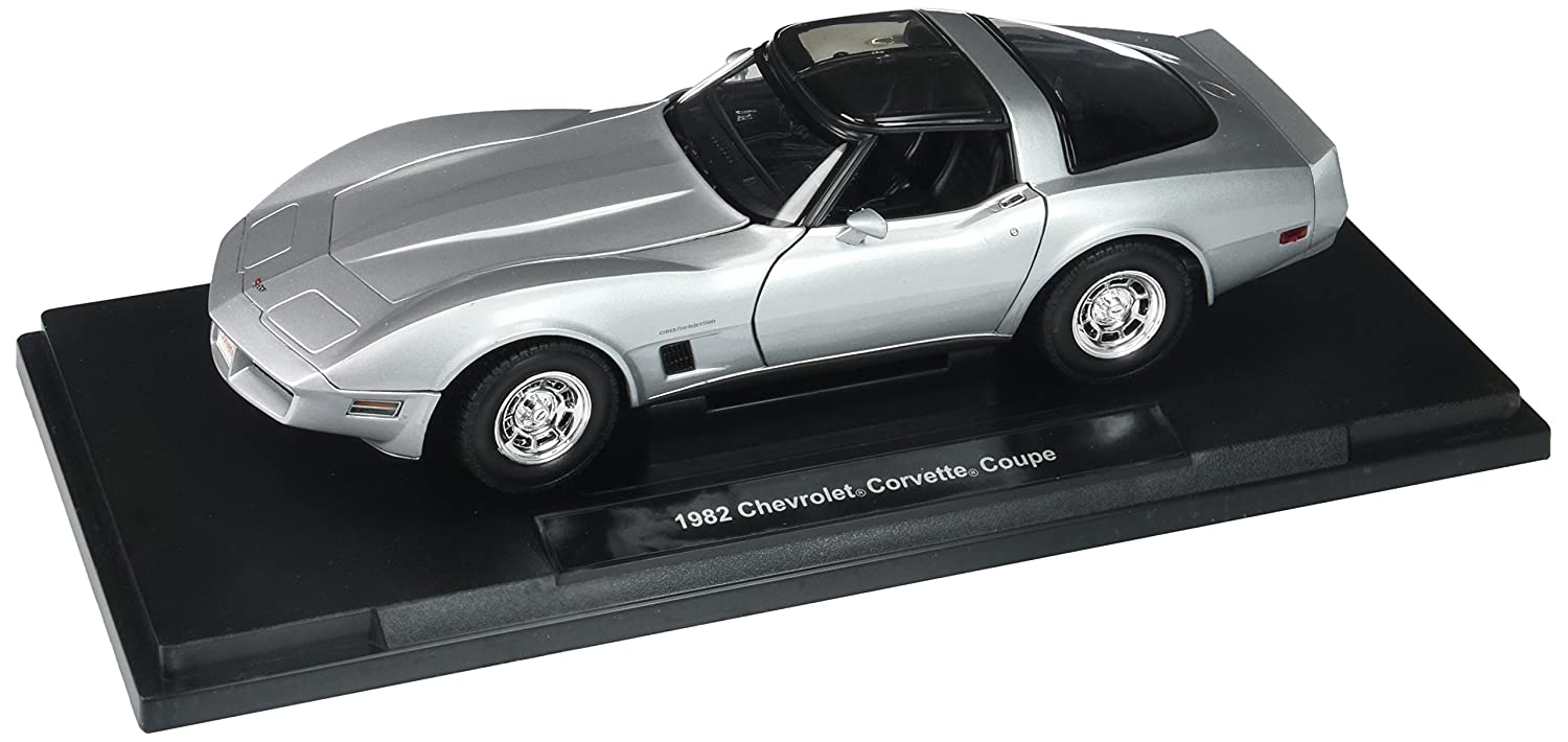 Welly Collection 1 18 1982 Chevrolet Corvette HT Diecast Model Car Silver