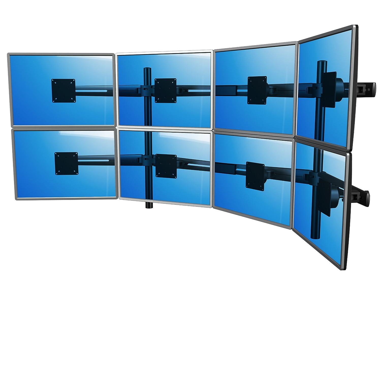 Dataflex 843 ViewMaster M3 Monitorarm (Tragkraft max. 8x 12kg, bis 61 cm (24 Zoll) Bildschirmdiagonale, VESA: MIS-D 75x75/100x100mm kompatibel) anthrazit
