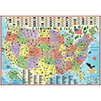 Illustrated map of the US for kids (27x39 Laminated Children's Wall Map of the US for Kids) [Map])