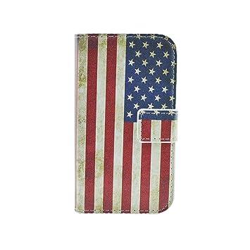 Qiaogle Teléfono Case - Funda de PU Cuero Billetera Clamshell Carcasa Cover para Motorola Moto G (1.Generation) (4.5 Pulgadas) - HY01 / Retro USA ...
