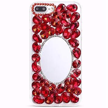 Felfy Diamante Espejo Carcasa Compatible con iPhone 7 Plus ...