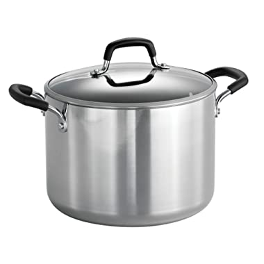 Tramontina 80132/030DS Style Aluminum Nonstick Stock Pot, 8-Quart, Mirror Polished, Made in USA