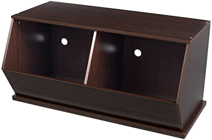 KidKraft Double Storage Unit   Espresso