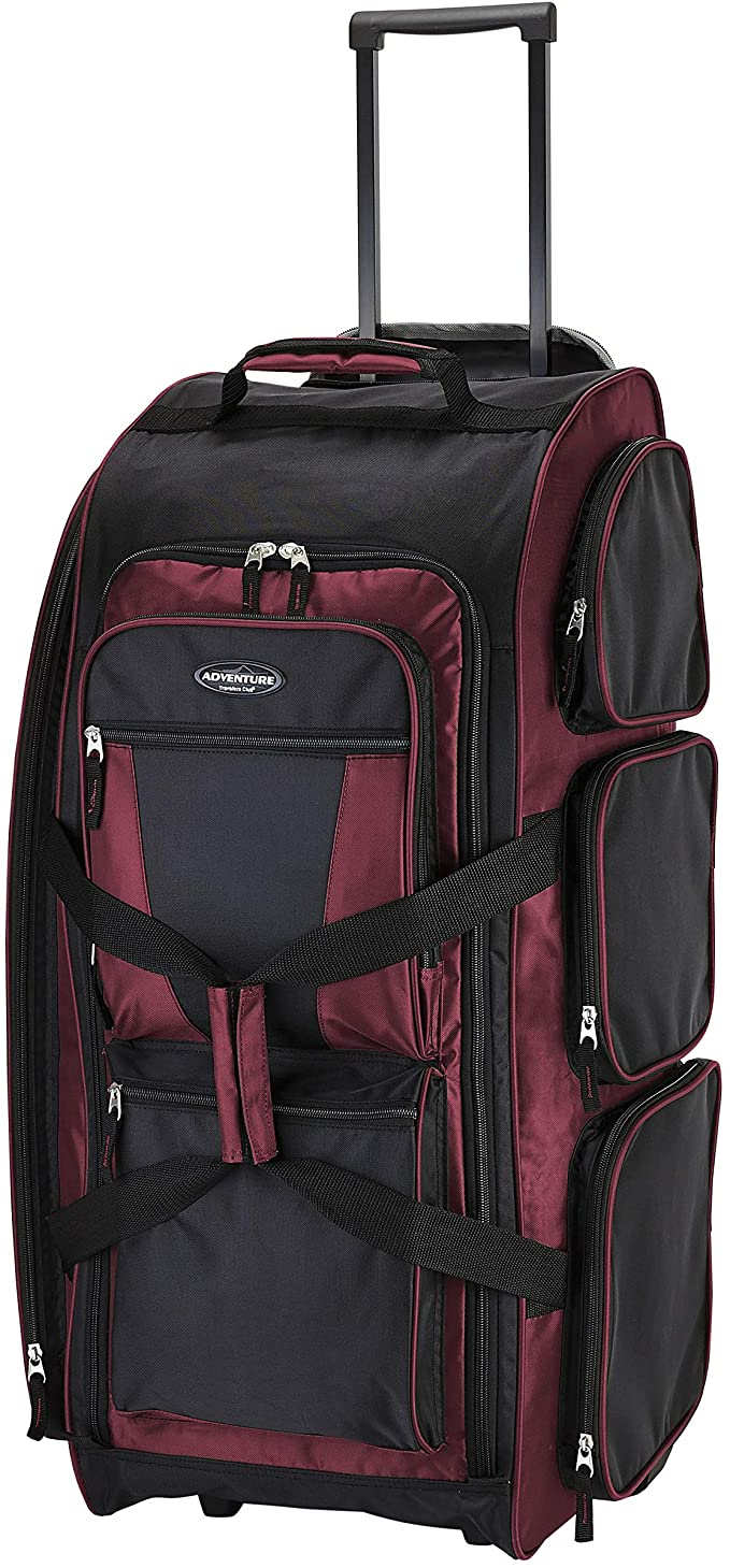 Travelers Club Xpedition 30-Inch Rolling Multi-Pocket Upright Duffel