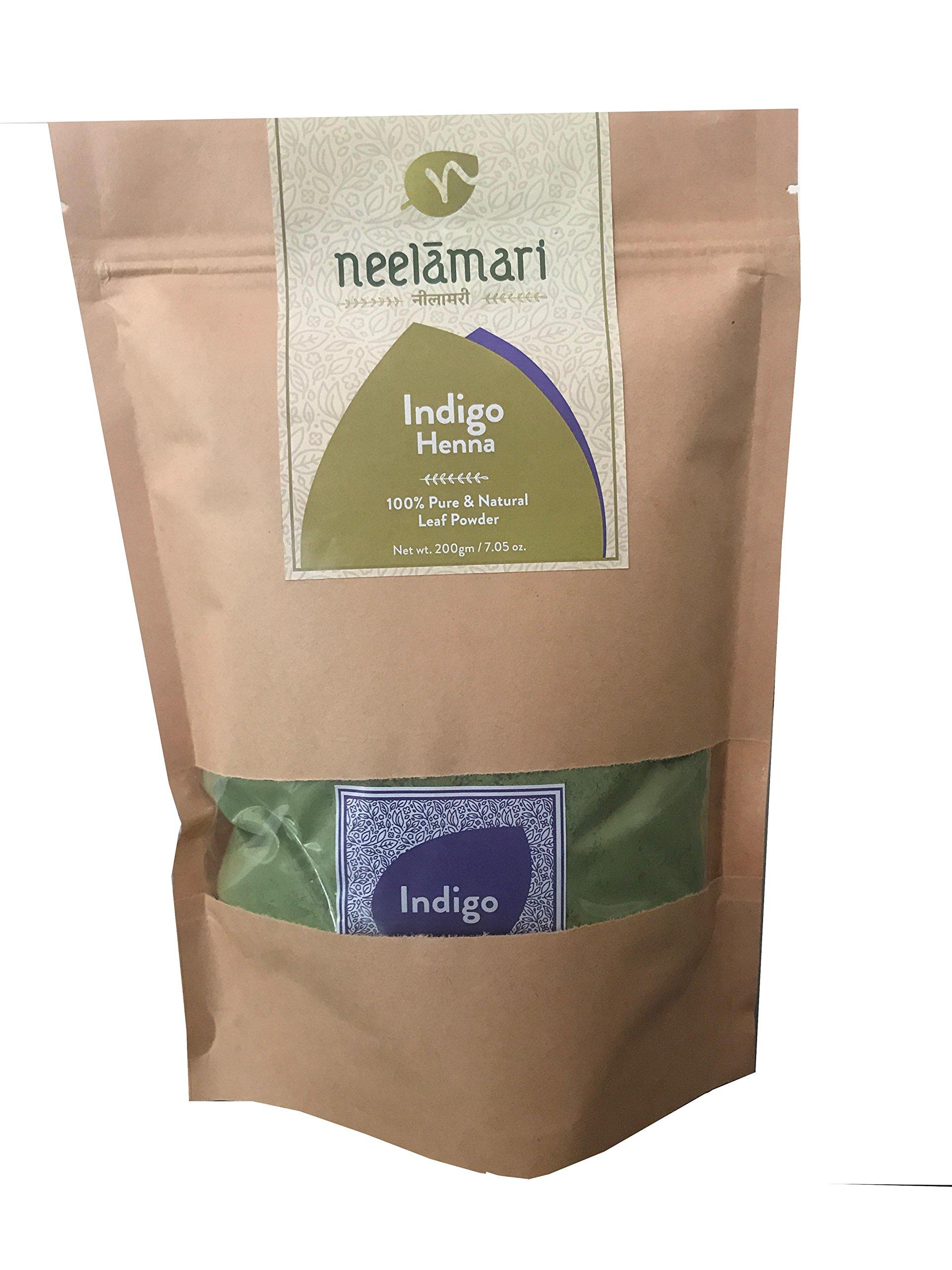 Neelamari Natural Indigo With Henna Powder (100 g + 100 g) product image