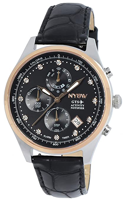 NYSW -Worlds 1st Swarovsk Hybrid Smartwatch for Women with Perpetual Calendar. This Luxury Fitness Tracker with Direct Steps Reading on Dial Advanced ...
