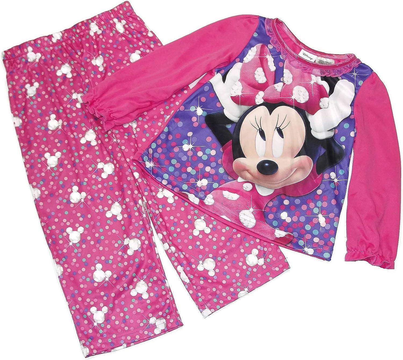 Toddler Pink Minnie Mouse Girls Matching Pajama Set 3T