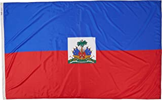 product image for Annin Flagmakers Model 193364 Haiti Flag Nylon SolarGuard NYL-Glo, 5x8 ft, 100% Made in USA to Official United Nations Design Specifications